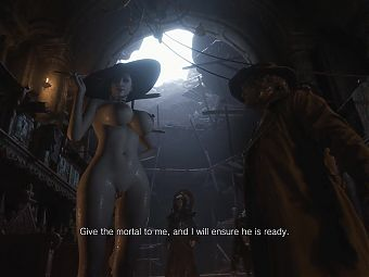 Nude Alcina Dimitrescu from Resident Evil 8 Village RE8