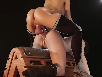 3D Jill Anal Pounded