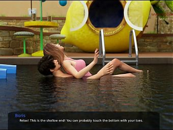 B and Z-MC-36-Visiting a pool with my sexy teen roomate