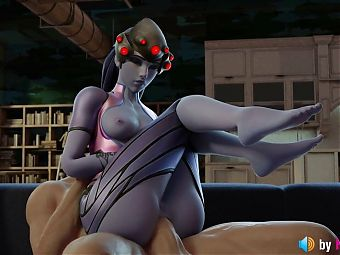 Widowmakers Anal Session (3d animation with sounds and voice)